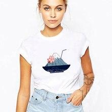 Японская Гора Фудзи напиток печатных футболка для женщин 2020