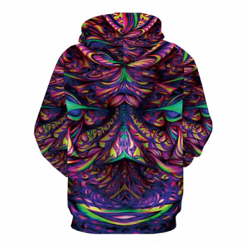 Abstract Anime Galaxy 3D Printed Colorful Hoodie  14