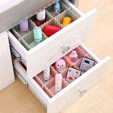 4 Pcs DIY Plastic Drawer Grid Separator Underwear Socks makeup Clapboard Adjustable Divider Partition Storage Organizer