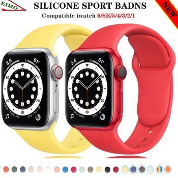 sports silicone for apple watch band 42mm 38mm 40mm 44mm smart watchbands wrist bracelet strap for i watch series 5 4 3 2 1 belt Strap For Apple Watch band 44mm 40MM iWatch 38mm 42mm belt Accessories Sport watchbands Silicone bracelet for series 6 SE 5 4 3