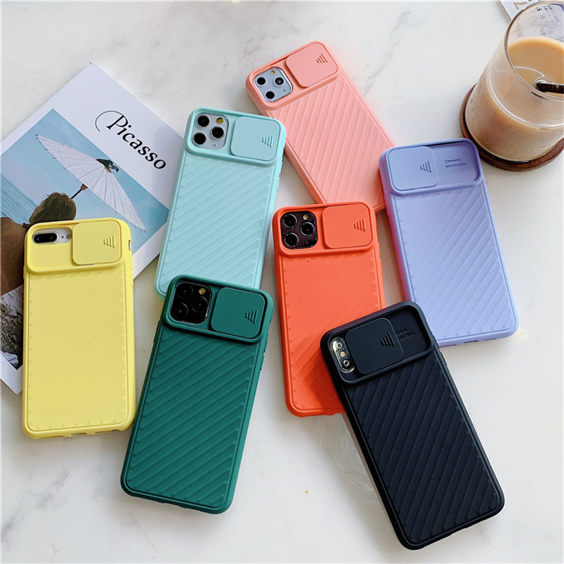 Camera Protection Shockproof Case For iPhone 11 Pro Max X XR XS Max 6 6s 7 8 Plus Solid Color Soft TPU Silicone Funda Back Cover image