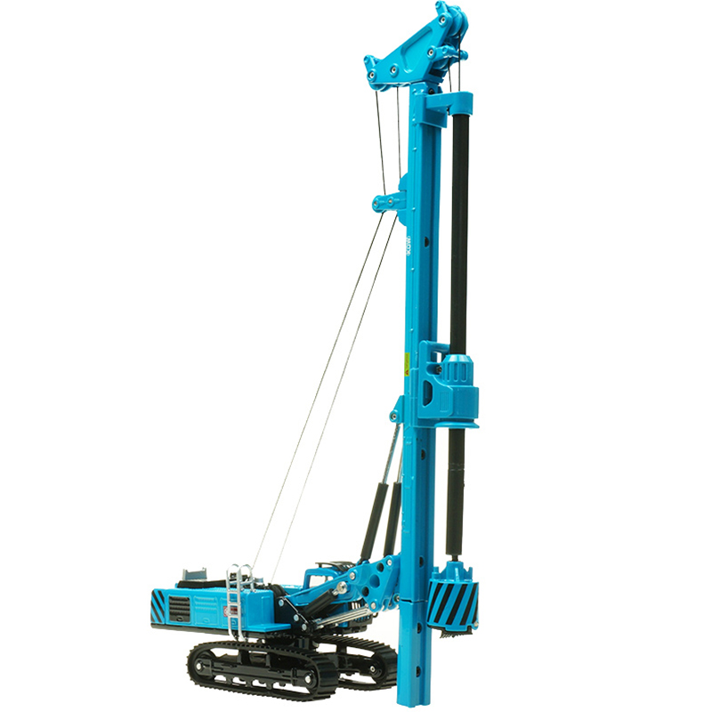 KDW Alloy Rotary Drilling Rig Crawler Excavator Diecast Construction Vehicle Model Children Collection Decoration Model Toys