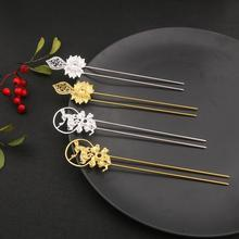 Comb Hairpins Silver Filigree Blank Base-Setting Flower Jewelry-Making DIY Copper Gold