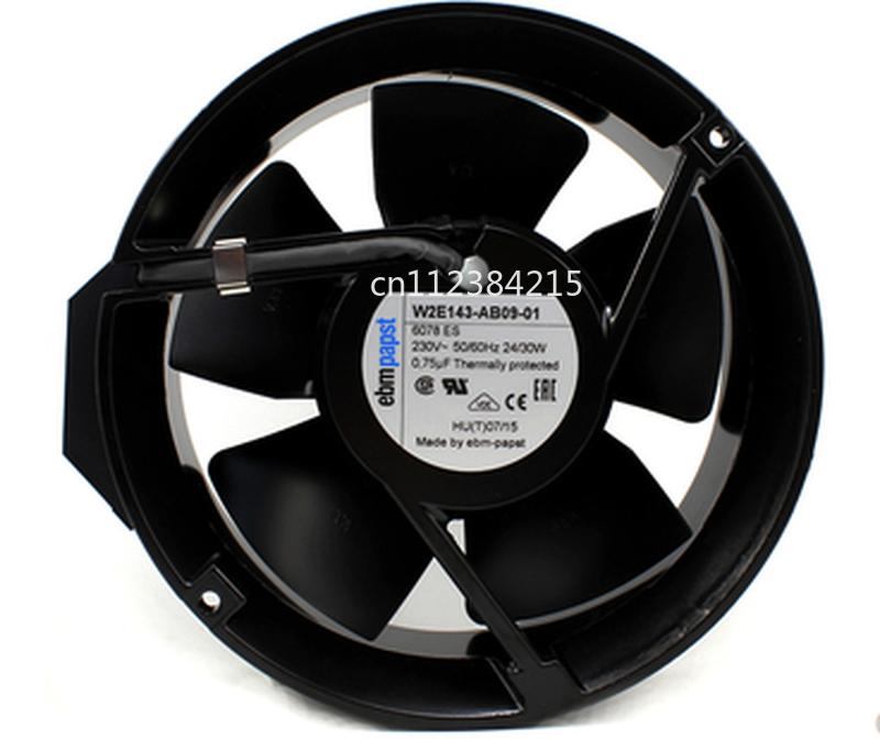 Free Shipping W2E143-AB09-01 AC 230V 24~30W 172X172X51mm Server Square Cooling Fan