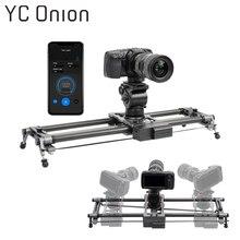Yc 양파 트랙 카메라 슬라이더 탄소 섬유 조절 가능한 각도 튜브 안정기 dv dslr 카메라 비디오 촬영을위한 포커스 팬 따라 가기