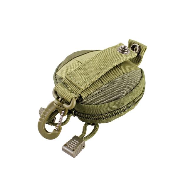 porte monnaie tactique militaire pour clés, Mini porte-monnaie, poche pour pièces de monnaie de l'armée avec crochet, sac de ceinture 4