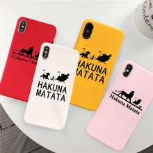 GYKZ Cool Lion King Pumba Fitted Case For iPhone XS MAX X XR 11 Pro 7 8 6 6s Plus Hakuna Matte Soft Silicone Phone Cover Fundas