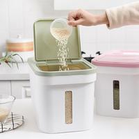 Kitchen Rice Fruits Storage Box Bucket Cereal Dry Food Keepers Large Rice Dispenser Container Spice Holders Sliding With Lid