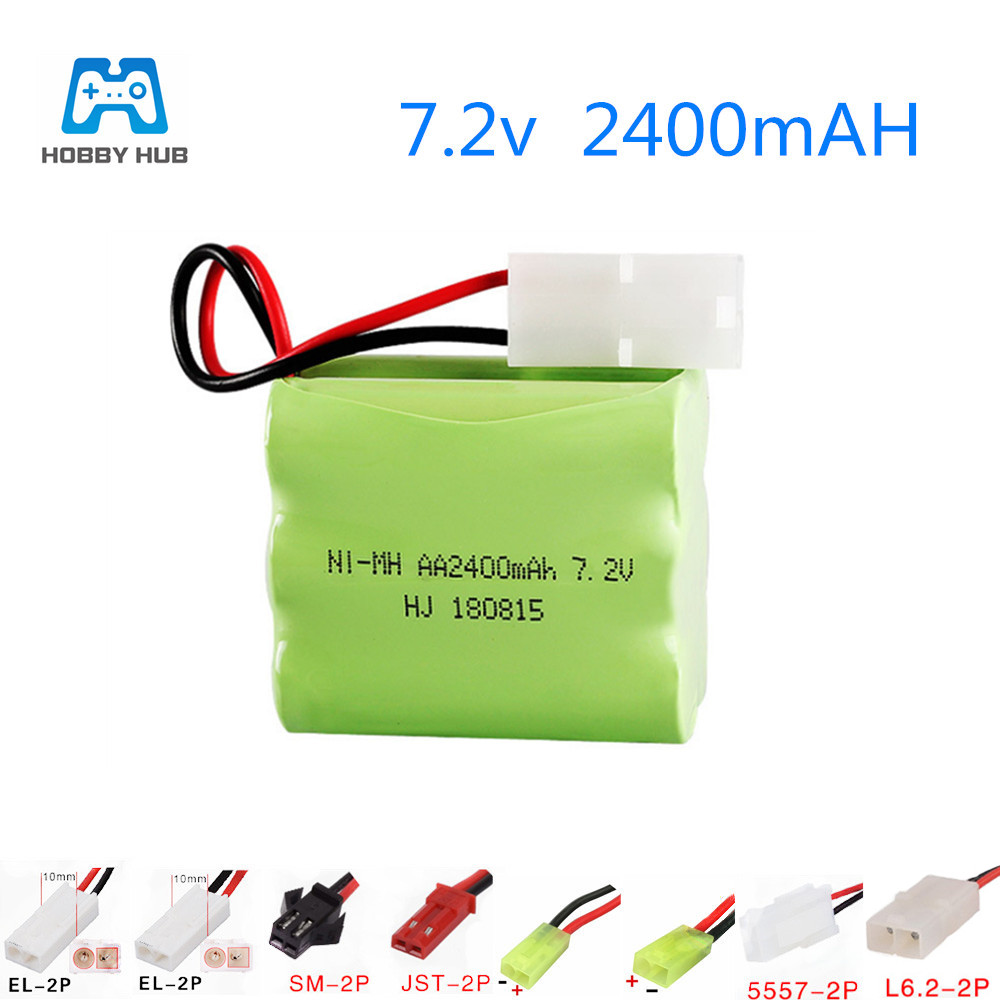 Hobby Hub 7.2v 2400mah rechargeable pack <font><b>battery</b></font> for Remote control toys electric toys car airplane boat <font><b>nimh</b></font> <font><b>7.2</b></font> <font><b>v</b></font> AA <font><b>battery</b></font> image