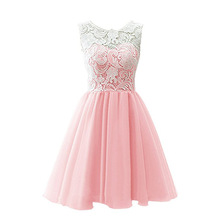 High quality Weddings Lace Tulle Girl Dress For 3 12 yrs Kids Pageant Party Wedding Bridesmaid