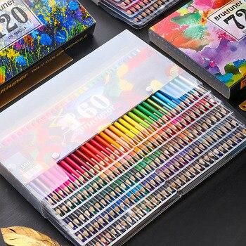 Lápices De acuarela De colores De madera, conjunto De lápices, lapislázuli De Cor, regalos De pintura para niños, material escolar para bellas artes, lápiz De Color agua