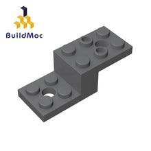 Buildmoc compatível monta partículas 11215 suporte 5x2x1 1/3 para blocos de construção peças diy logotipo brinquedos educativos presente