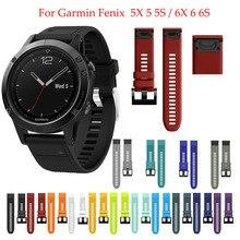 Sport Silikon Armband Blumenarmband weinlese für Garmin Fenix 6X 6 6S Pro 5X 5 5S Plus 3 3HR 20 22 26mm Einfach Fit Schnell Release wirst