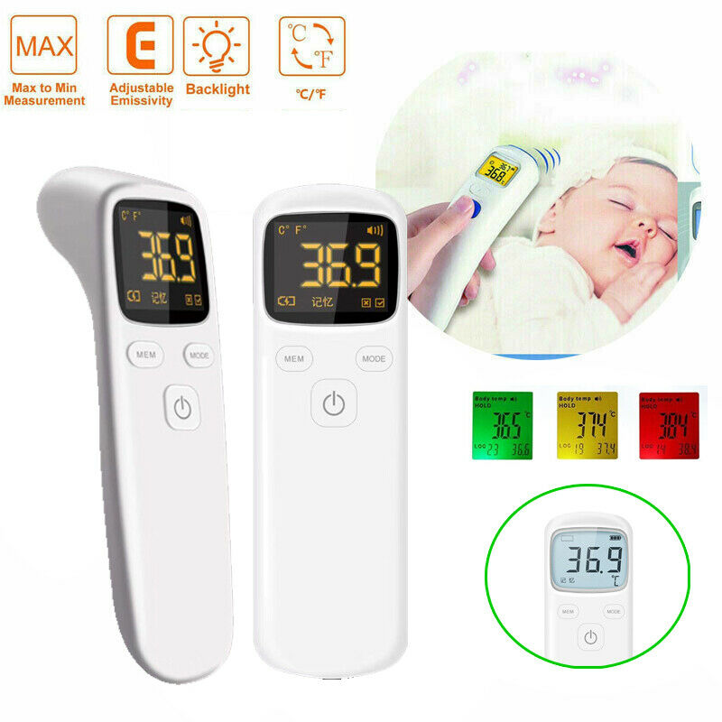 Infrared Digital Thermometer Baby Adult Forehead IR Non-touch Temperature Gun Compliant With FDA & CE Certification