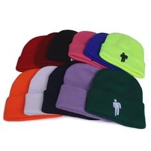 Billie Eilish Beanie Hat Women Men Knitted Hats Warm Winter Hats Hip-hop Outdoor