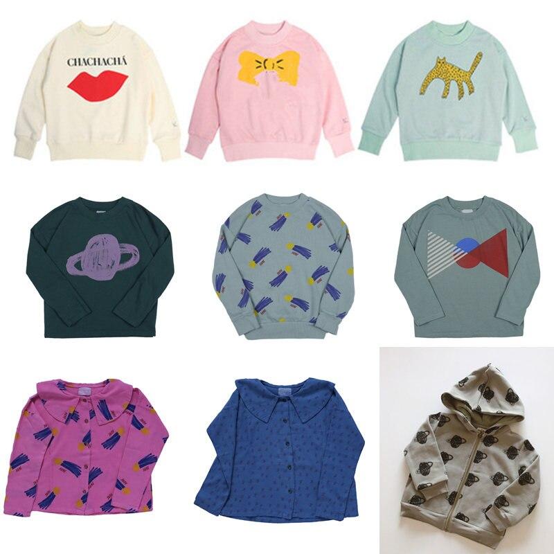 Kids Sweatshirt 2020 Brand New Autumn Winter Boys Girls Clothes Print Stitch Hooded Coat Baby Children Windproof Cotton Outwear 1
