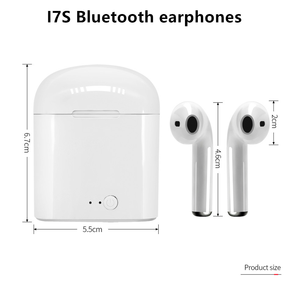 i7s TWS Wireless Earpiece Bluetooth 5.0 Earphones sport Earbuds Headset With Mic For smart Phone Xiaomi Samsung Huawei