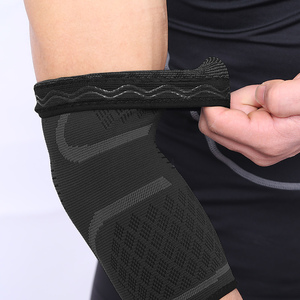Image 4 - AOLIKES 1PCS Elbow Support Elastic Gym Sport Elbow Protective Pad Absorb Sweat Sport Basketball Arm Sleeve Elbow Brace