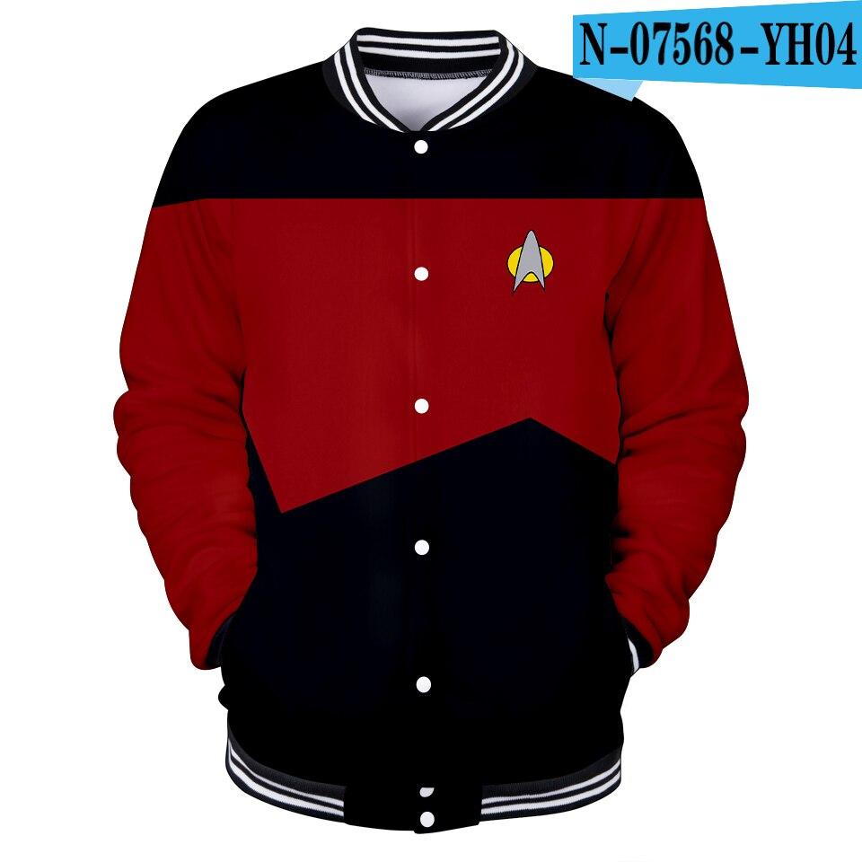 3D fantascienza serie TV Star Trek Short Treks cosplay uniforme da Baseball giacca uomo/donna Harajuku giacca da Baseball abbigliamento