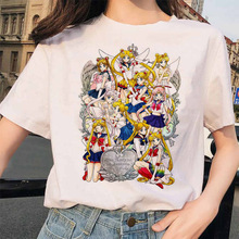 2020 New Cartoon Sailor Moon Summer T Shirt Women Harajuku S