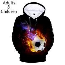 Новые 3d футбольные толстовки мужские и женские модные детские
