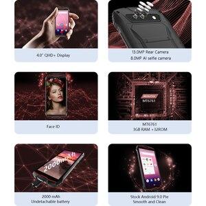 """Image 2 - Cubot KingKong MINI 4 """"QHD + 18:9 Dello Schermo Telefono Cellulare Robusto Impermeabile 2000mAh 4G LTE Dual SIM 3GB + 32GB Android 9.0 Outdoor Cellulare Macchina Fotografica di Retrovisione di 13MP Smartphone Antiurto"""
