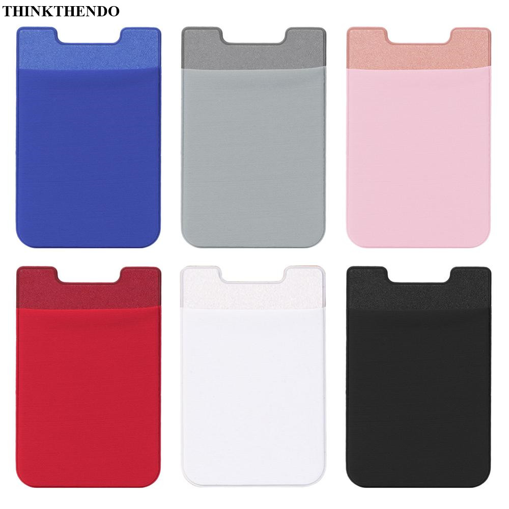 Mobile Phone Back Cards Holder Wallet Credit ID Card Pocket Adhesive Sticker