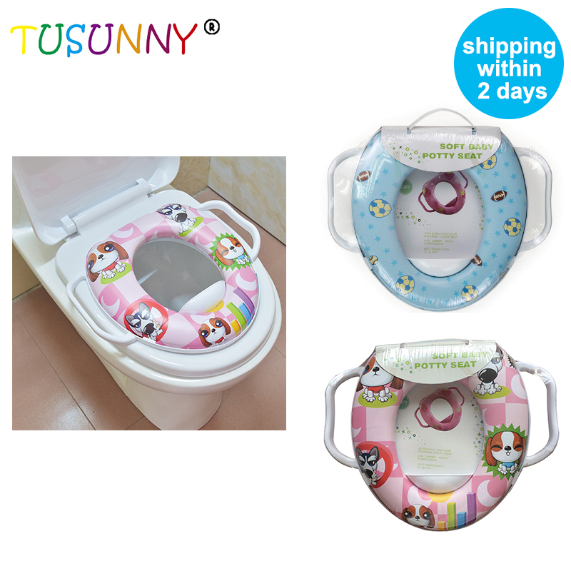 TUSUNNY High Quality Eco-friendly Infant Soft Cushion Baby Toilet Seat For Children Trainer With Handle