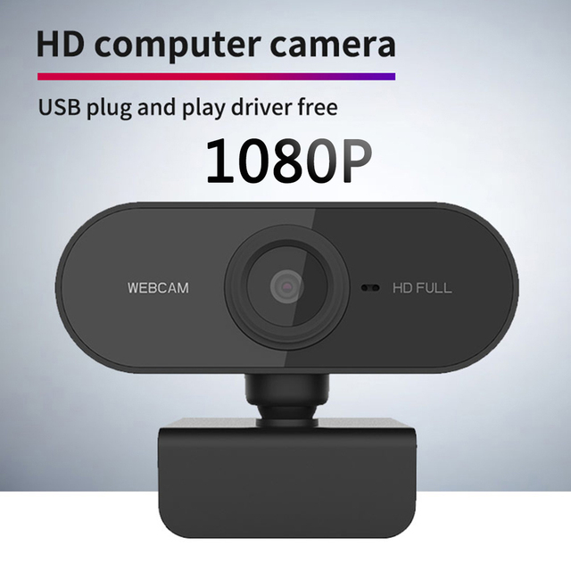 1080P HD Computer Peripherals USB 2.0 Web Camera Video Online Teaching Conference Microphone CMOS Webcam for Computer PC Monitor
