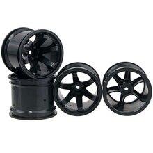 4PCS 2.2-Inch Wheel Hub 62mm Plastic Wheel Rim for 1/10 HPI Offroad RC Cars DIY Accessories