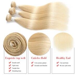 Image 2 - 613 בלונד שיער טבעי חבילות Kemy שיער 8 כדי 26 אינץ ברזילאי ישר שיער טבעי Weave חבילות ללא רמי שיער הרחבות 1PC