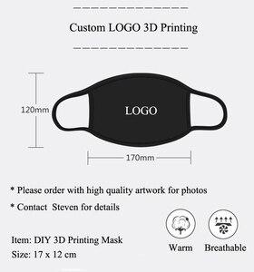50pcs/lot Nice Custom logo Personalized DIY 3D printing black mask