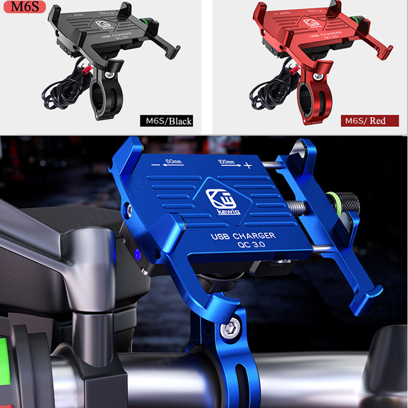 With USB Charger Moto Mobile Phone Holders Stands Motorcycle Phone Stand Holder Universal For Iphone Motorcycle Cellphone Holder