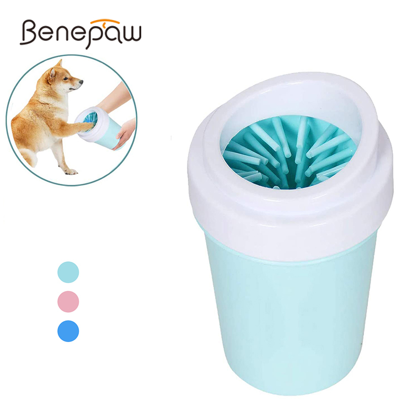 Benepaw Durable Effective Silicone <font><b>Dog</b></font> <font><b>Paw</b></font> Washer Portable Soft Comfortable Cleaning Pet Foot Washer Cup <font><b>Dog</b></font> Feet <font><b>Cleaner</b></font> Brush image