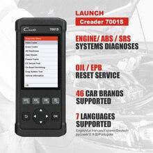 LAUNCH autoescáner OBD2 CR7001S, lector de códigos de coche, Airbag, E0BD, ABS, SRS, aceite, EPB
