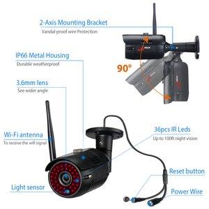 Image 4 - Anrun 6CH نظام المراقبة 2MP اللاسلكية في الهواء الطلق طقم كاميرا نظام الأمن مسجل فيديو مقاوم للماء التحكم عن بعد ليلة