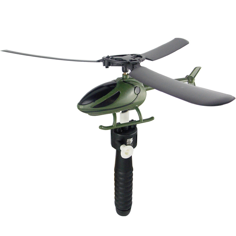 Pull String Helicopter Outdoor Toy 8
