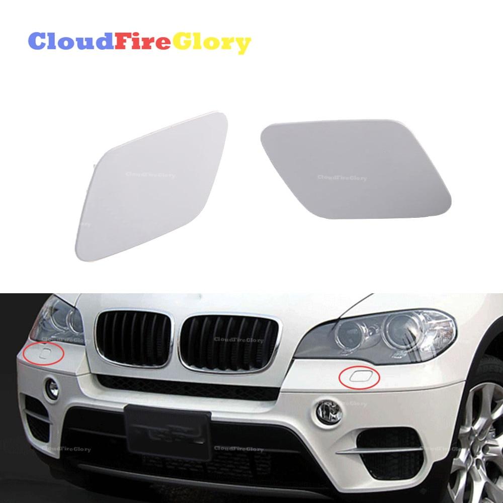 Genuine AUDI Q7 2009-2012 Headlight Washer Covers Caps Primed LEFT+RIGHT