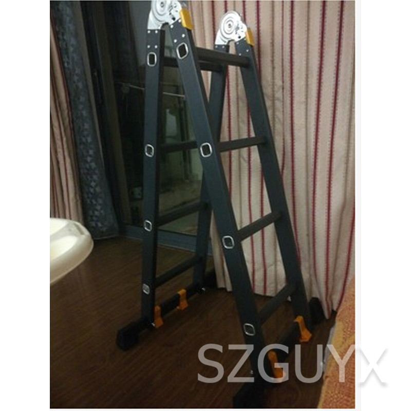 Straight Ladder 2.5 M Multi-function Folding Ladder Aluminum Ladder Ladder Home Lift Straight Ladder Engineering Ladder
