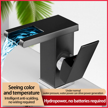 NEW LED Luminous Faucet Sink Water Tap Temperature Control Discoloration Three-Color Changing Kitchen Bathroom Fixture