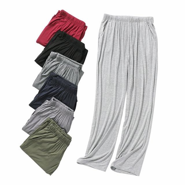 Hot Sale Autumn Men's Pajama Pants Modal Lounge Wear Home Pants for Men Plus Size Casual Home Pants Fall Soft Homewear Trousers