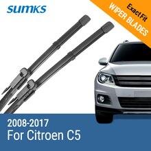 """Sumks стеклоочистителей для Citroen C5 2""""& 22"""" Fit pinch tab оружия 2008 2009 2010 2011 2012 2013"""