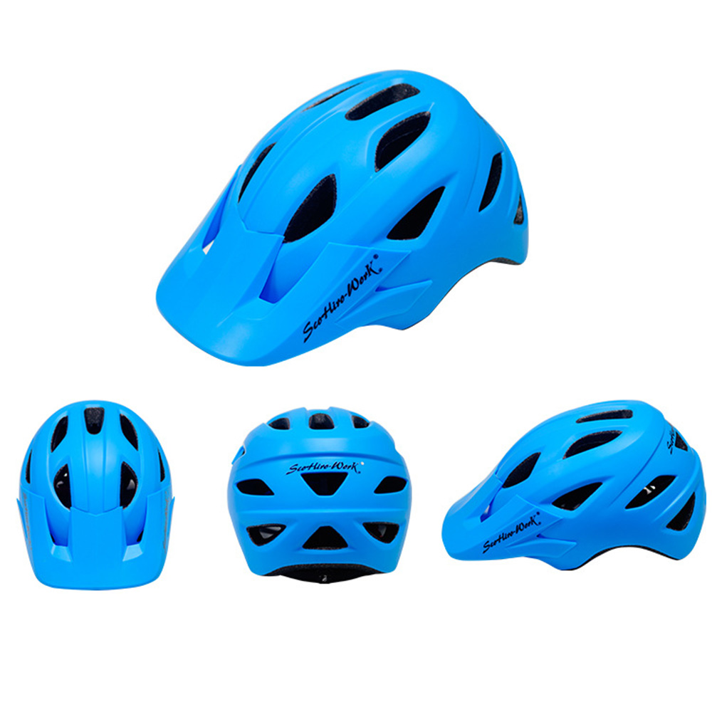 Cycling Helmet With Visor Ultralight MTB Road Bike EPS Helmets Mountain Bicycle Safety Integrally-mold Head Cover Casco BC0081 (5)