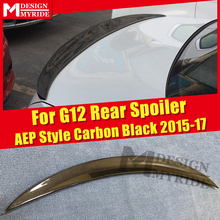For BMW G12 Spoiler Real Carbon Fiber AEP Style Gloss Black Trunk Spoiler 7-series 740i 750i 750li 760i Spoiler Wings 2015-2017 carbon fiber rear spoiler window wing for bmw g11 g12 7 series 740i 750i sedan 4 door 2016 2018 mp style