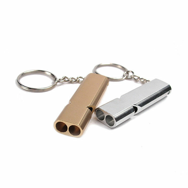 Aluminum Alloy SOS Emergency Survival Loud Whistle Keychain Camping Hiking Tools