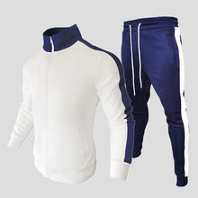 Men's CasualSuit Two Piece Sportswear Men's Fitness Clothing Fashion Color Matching Jogging Clothes Autumn Winter Men Clothing