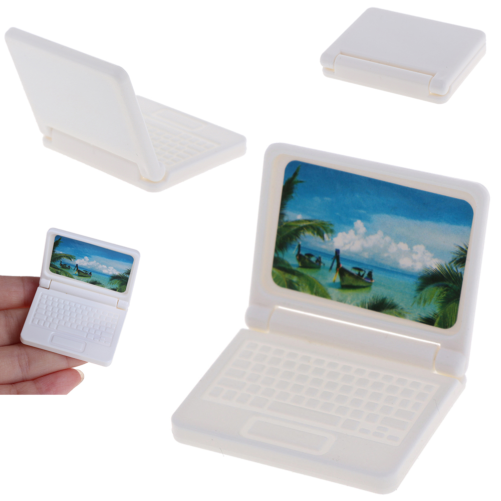 Dollhouse Miniature  Computer Furniture For Children Toy Furniture For Dolls Laptop Computer Random Color Dolls Accessories