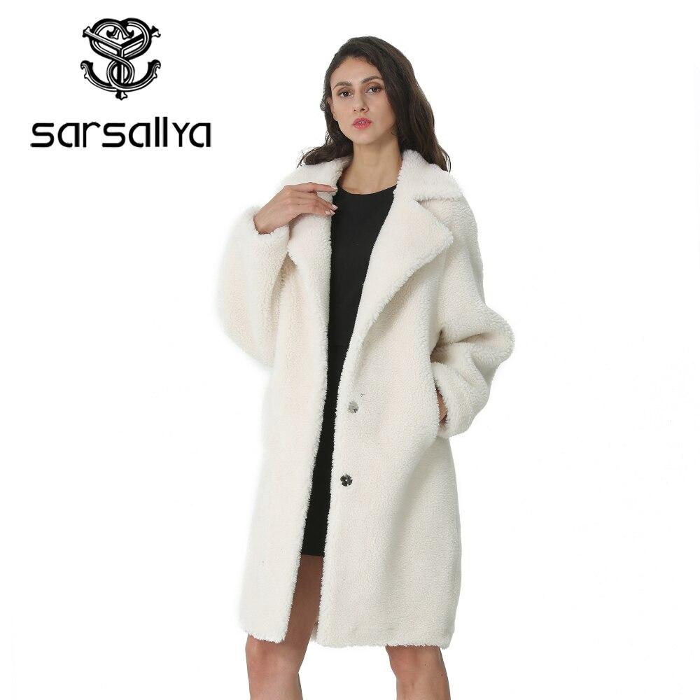 Hiver femmes laine manteau cachemire femme Long manteau mélanges laine élégant automne veste pour dames épais chaud fourrure vêtements fille 2019