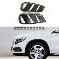 Carbon Fiber Front Bumper Air Vent Cover Fog Lamp Trim Grill Frame for Benz GLA Class X156 GLA 200 GLA260 GLA45 2014 2015 2016|Bumpers| |  -