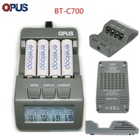 Original opus BT C700 nicd nimh lcd digital inteligente aaa 14500 aa carregador de bateria atualizado a partir bm110 ue eua adaptador bt c700|aa battery charger|battery charger|us charger -